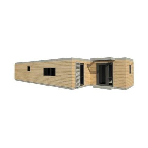 maison modulaire mobile transportable sur pilotis. Black Bedroom Furniture Sets. Home Design Ideas