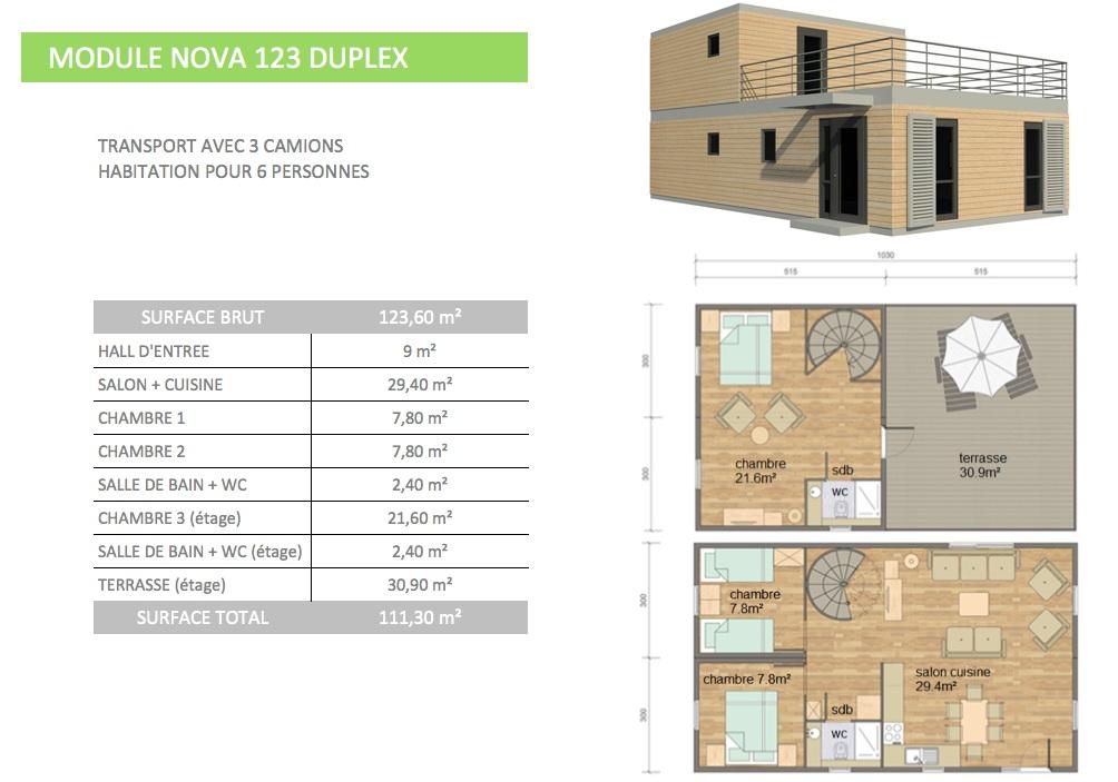 Maison modulaire contemporaine architecte prix choc for Prix maison etage 100m2