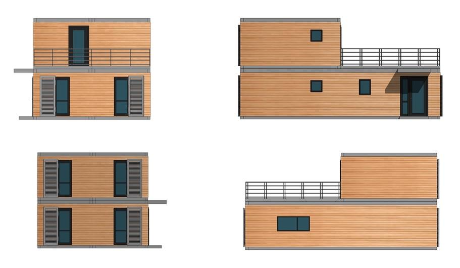 maison modulaire contemporaine architecte prix choc. Black Bedroom Furniture Sets. Home Design Ideas