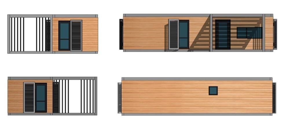 Bureau de Jardin à toit plat design