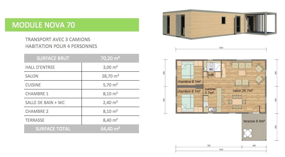 Maison modulaire evolutive bois acier for Maison modulaire guadeloupe