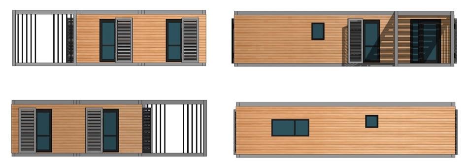 Maison modulaire evolutive bois acier Maison modulaire evolutive