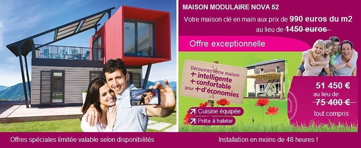 promotions maisons modulaires. Black Bedroom Furniture Sets. Home Design Ideas