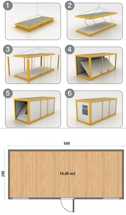 Construction modulable for Container reunion prix