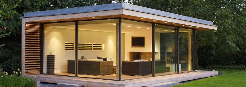 bureau de jardin et pool house